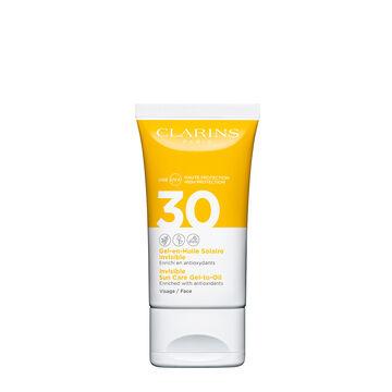 Gel-Aceite Solar Invisible para el rostro  UVA/UVB 30