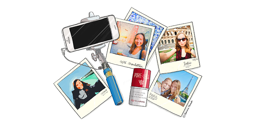 """Ni un solo pliegue en los """"selfies"""""""