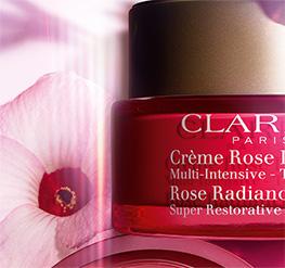 Envase de Crème Rose con flor de hibisco