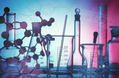 Foto de un recipiente en un laboratorio