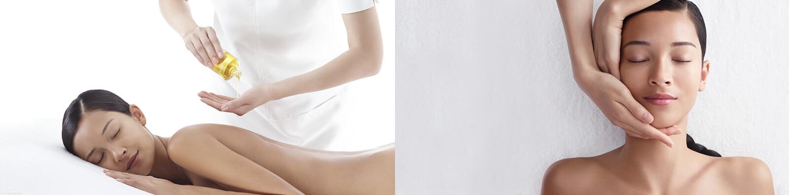 Mujer que recibe un masaje